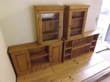 Kitchen Furniture Package. Plate rack-2 door wall unit-Pair of glazed wall units