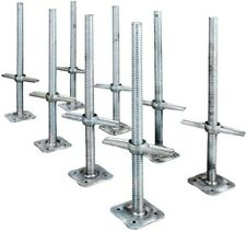 Leveling Jack 24 In. Scaffolding Parts Adjustable Galvanized Steel (8-Pack)