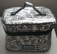 Black and White Makeup Travel Tote Belle Russo Cosmetic Bag New