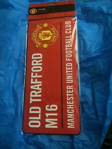 New Manchester United Old Trafford Red Devil Soccer Football Street Sign Metal