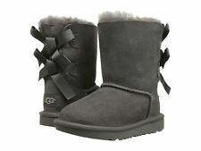 UGG Australia Size 7 Toddler Grey Bailey Bow II BOOTS Style 1017394t