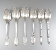 Antique & Vintage French Silver Plate Coffee Spoons, Casino, Assortment of 6