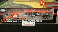 DCP#32680 RED PETE 379 SEMI CAB TRUCK & CHROME EAST END DUMP TRAILER 1:64/CL