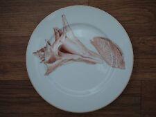 FITZ & FLOYD Coquille Salad Dessert Plate Shell Peach White Oceana Seashells