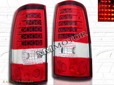 03-06 CHEVY SILVERADO SIERRA TAIL LIGHTS LED 2004 2005 RED CLEAR