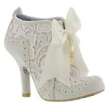Bridal or Wedding Suede Floral Heels for Women