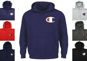 Champion Retro Men's Hoodie Big & Tall Sweatshirt Logo Pullover Hooded Shirt