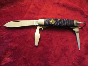 OFFICIAL CUB SCOUTS - (D) VINTAGE CAMILLUS - 3 BLADE CAMPING POCKET KNIFE - VG