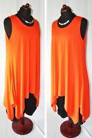 MYO-Lagenlook raffiniertes A -Linie-Top-Tunika-Kleid mandarine 44,46,48,L,XL,XXL