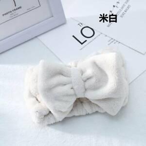 2021 Big Bow Soft Elastic Towel Hair Band Wrap Makeup Headband Bath Spa Hairband
