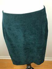 Bently Plus Womens Skirt Dark Green Zip Up Straight Vintage 40'' Waist