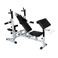 Multi Station Home Gym Weight Bench Press Leg Fitness Ab Set Fitness Curls Situp
