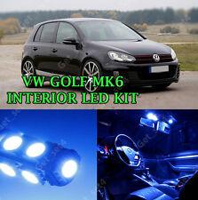 VW GOLF MK6 TDI TSI 2008-2014 INTERIOR Error Free LIGHT BULBS LED KIT - BLUE SET