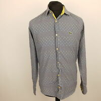 Lacoste Mens Vintage Casual Shirt SMALL Long Sleeve  Slim Fit Check Cotton