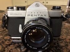 Vintage Asahi Pentax Spotmatic SP 35mm SLR Film Camera