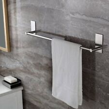 Towel Bar Self Adhesive 27.55-Inch Bathroom Brushed Sus 304 Stainless Steel Bath