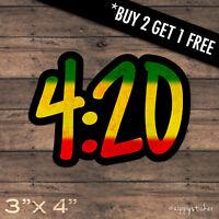 420 Sticker -  Weed Cannabis Marijuana 4:20 Pot Vinyl Window Laptop Waterproof