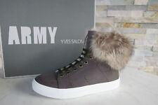 ARMY YVES SALOMON Gr 37 High Top Sneakers Murmeltier Fell Schuhe  NEU UVP 720 €