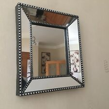 industrial style wall mirror beaded bevelled wall mirror bathroom hallway mirror