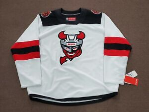 Binghamton Devils AHL CCM White Home Jersey Replica Adult X-Large NEW with Tags