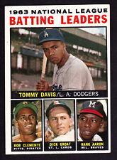 1964 TOPPS #7 TOMMY DAVIS/ROBERTO CLEMENTE/DICK GROAT/HANK AARON