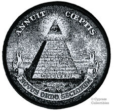 ANNUIT COEPTIS iron-on PATCH embroidered ILLUMINATI MASONIC logo ALL-SEEING EYE