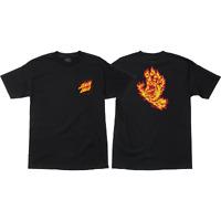 Santa Cruz Flame Hand T-Shirt - Black