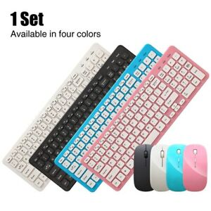 2.4G Office Ultra Silent Wireless Keyboard Mouse Set Quiet Slim Keyboard Mouse
