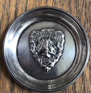 Vintage 1932 Shenecossett Country Club Sterling Silver Golf Runner Up Dish 27g