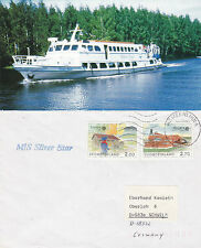 FINNISH RIVER CRUISE SHIP MS SILVER STAR A SHIPS CACHED COVER & MAGAZINE PICTURE