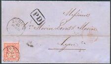 Schweiz R-Brief mit Mi.-Nr.25 als Ef Zürich-Genf-Lyon, feinst