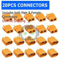20Pcs XT60 Male Female Bullet Connectors Plugs For RC Battery From US Warehouse