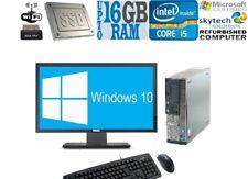 Gaming PC Monitor Bundle Core i5 Desktop DT Computer 16GB RAM 1TB Windows 10 PC