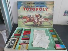 Vintage Waddingtons Totopoly Horse Racing Board Game - lead Horses
