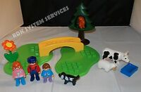PLAYMOBIL 6788 1.2.3 Meadow Path Playset COMPLETE! Bridge, Tree, Animals!
