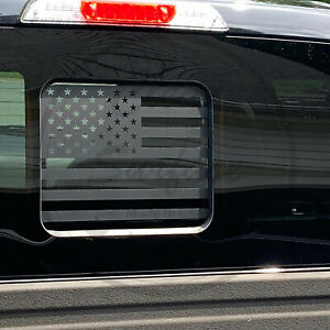 Fit Ford F150 F250 F350 2015-2021 Back Middle Window American Flag Decal Sticker