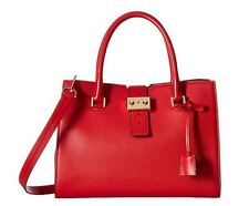 "MICHAEL KORS handbag ""BOND"" Bright RED Leather Large Satchel NEW $498.00"