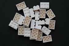25 Lego Bausteine 2x3 weiss NEU Grundsteine Basic Steine 3002