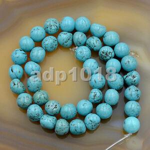 8x9mm Blue Turquoise Nugeet Gemstone Beads