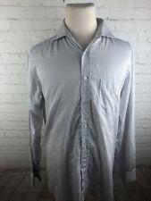 Corneliani Men's Brown Plaid Cotton Dress Shirt 17 32/33 $495
