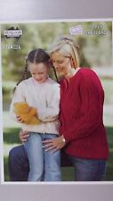 Heirloom Knitting Pattern #324 to Knit Ladies or Girls Aran Cardigan in 10 Ply