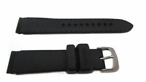 Seiko Black Silicone Watch Band 18mm 4GD1JB