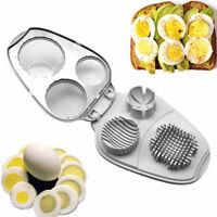 3 In 1 Eierschneider Multifunktionale Küchenwerkzeug Edelstahl Schneidwerkzeug