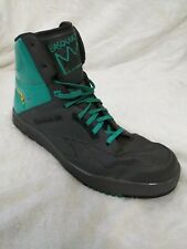 Reebok Hi top Basquiat Shoes Gray Turquoise Yellow size 13