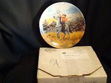 "Knowles Oklahoma Series ""Oklahoma"" Collectors Plate with Box & Coa"