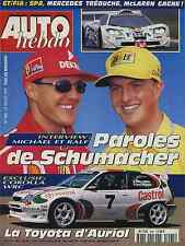 AUTO HEBDO n°1095 24/07/1997 TOYOTA WRC 24h SPA MICHAEL & RALF SCHUMACHER