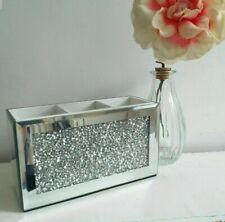 Sparkly Crushed Diamond Crystal Mirrored Make Up Brush Holder Make Up