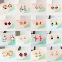 Jewelry Gift Charm Love Girl Cute Small CZ Cartoon Animal Studs Earrings Women's