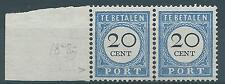 1894TG Nederland  Paartje Portzegel P25  postfris, mooi paartje. Zie foto's.