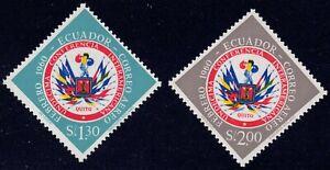 1960 Ecuador SC# C365-C366 - Flags of American Nations - M-H